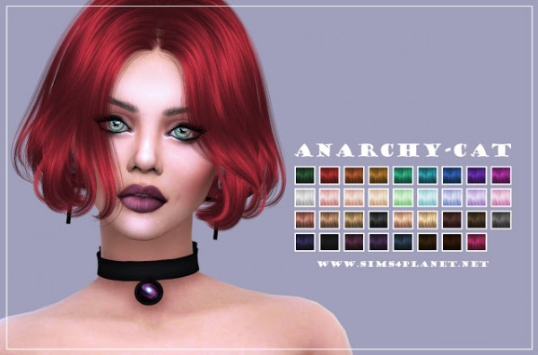 Anarchy Cat: Anto` Thorns hair retextured for Sims 4