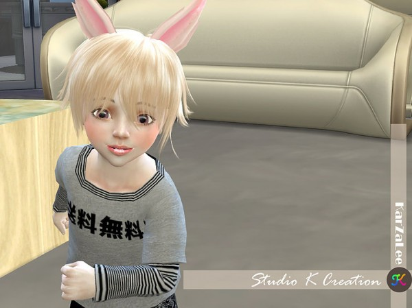 Studio K Creation: Animate hair 80   Yuji for toddler for Sims 4