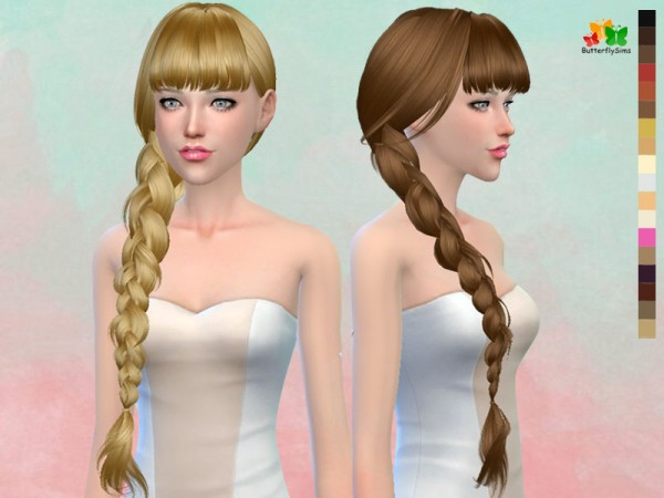 Butterflysims: B fly`s 166 hair No hat for Sims 4