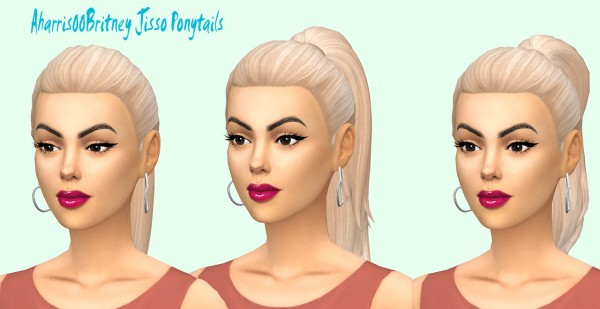 Sims Fun Stuff: Jisoo ponytail hair retextured for Sims 4