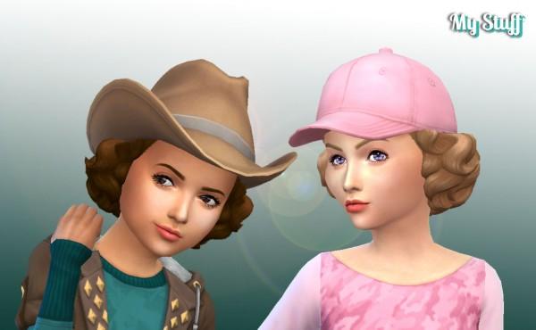 Mystufforigin: Lovely Curls hair retextured for Sims 4