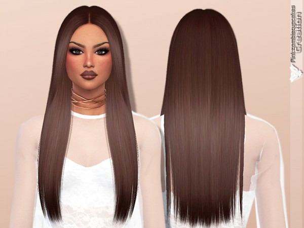 The Sims Resource: Nightcrawler`s Runway hair retextured by Pinkzombiecupcakes for Sims 4