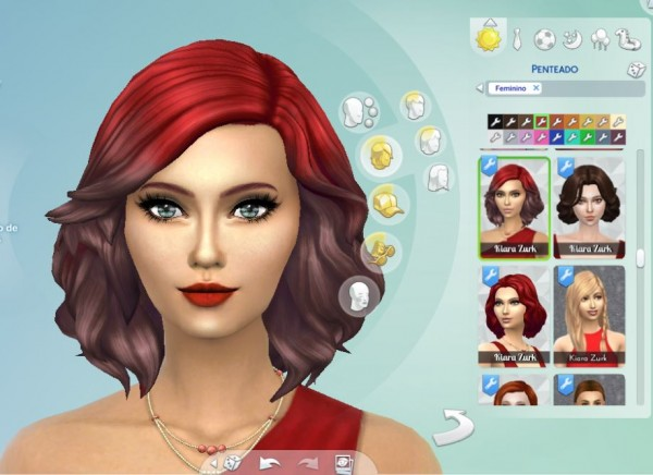 Mystufforigin: Medium Soft Wavy Ombre hair recolored for Sims 4