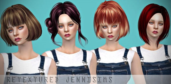 Jenni Sims: Butterfly`s 194,197,198, and Skysims 158 Hairs retextures for Sims 4