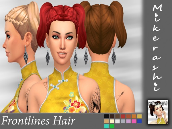 Mikerashi: Frontlines Hair for Sims 4