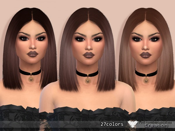 The Sims Resource: Nightcrawler`s Antoinette hair retextured by Pinkzombiecupcakes for Sims 4