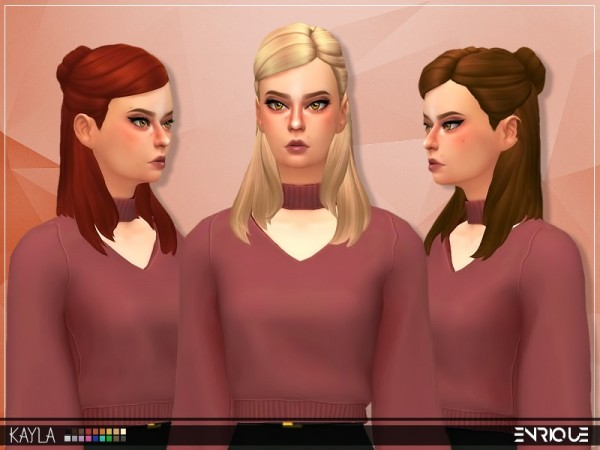 The Sims Resource: Enrique`s Kayla Hair retextured for Sims 4