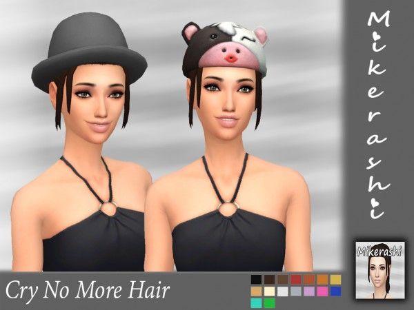 Mikerashi: Cry No More hair retextured for Sims 4