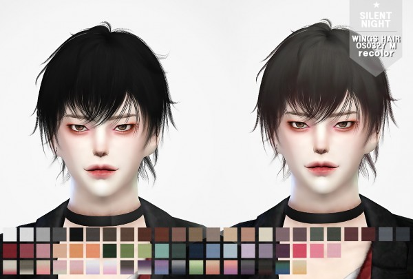 Silent Night: Wings hair OS0327 M recolor for Sims 4