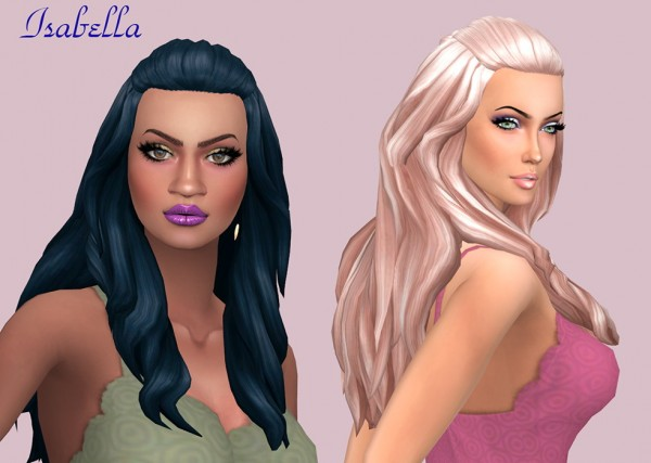 Sims Fun Stuff: Catherine, Lovely Curls, Isabella and Butterfyl`s 199 hairs retextured for Sims 4
