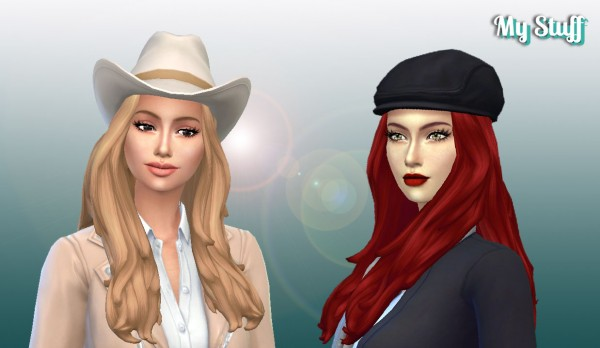 Mystufforigin: Francesca Hair for Sims 4