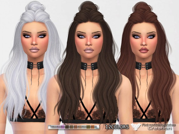The Sims Resource: Wings  OS0520 Hair Retextured by Pinkzombiecupcakes for Sims 4
