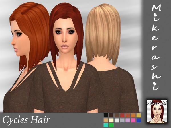 Mikerashi: Cycles Hair for Sims 4
