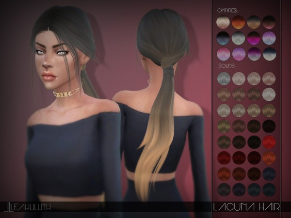 The Sims Resource: Lacuna Hair by LeahLillith for Sims 4