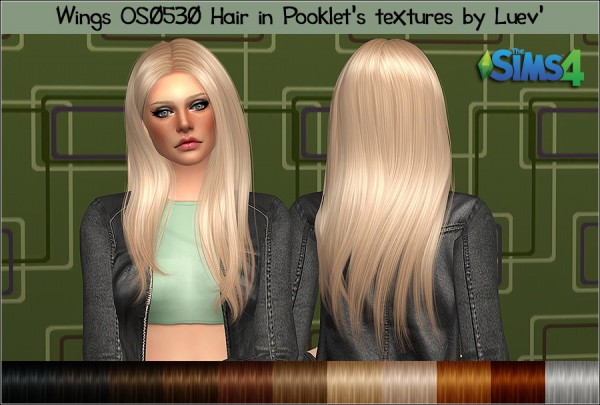 Mertiuza: Wings OS0530 hair retextured for Sims 4