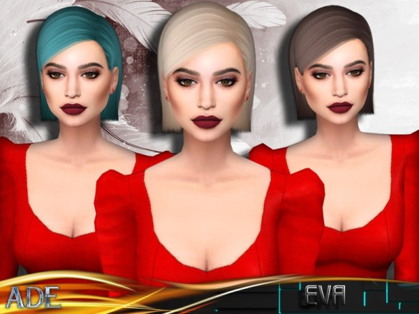 The Sims Resource: Ade Darma`s Eva hair for Sims 4