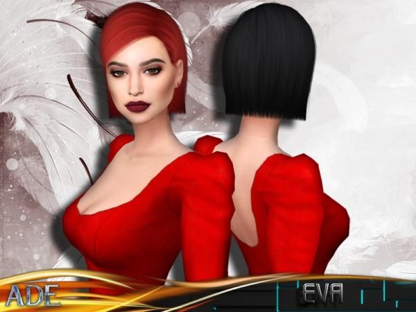 The Sims Resource: Ade Darma`s Eva hair for Sims 4