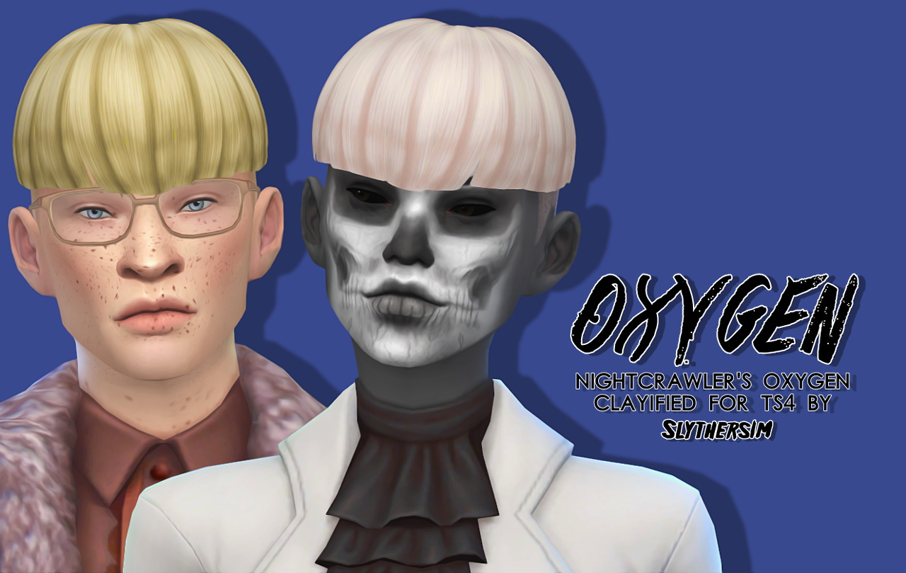 Sims 4 Hairs Slythersim Nightcrawler S Oxygen Clayified