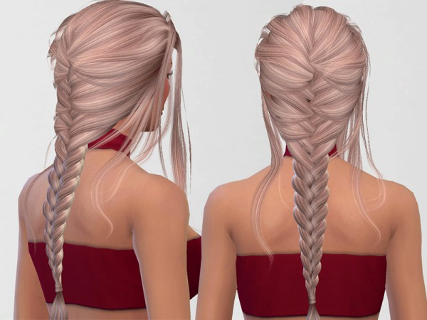 The Sims Resource: LeahLilith`s Daydream hair retextured by Pinkzombiecupcakes for Sims 4