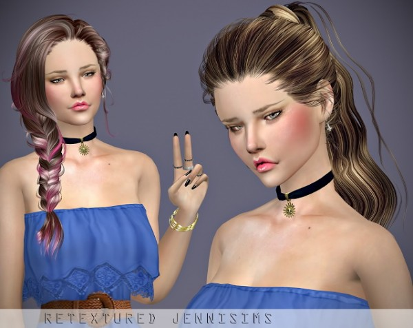 Jenni Sims: Newsea`s Erena and Jessica Hairs retextures for Sims 4