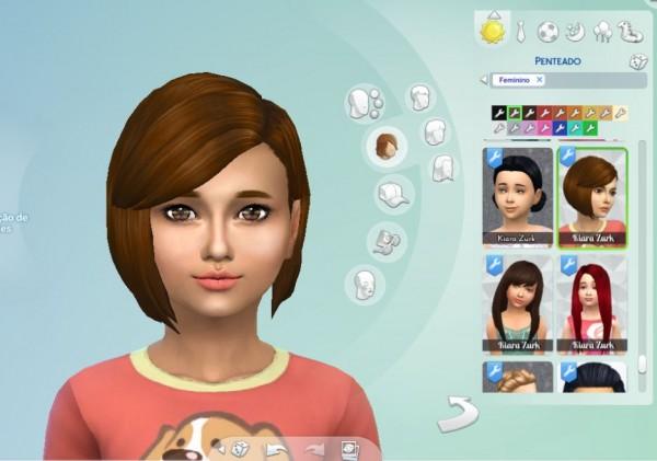 Mystufforigin: Innocence hair for Girls for Sims 4