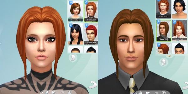 Mystufforigin: Night time hair for Sims 4