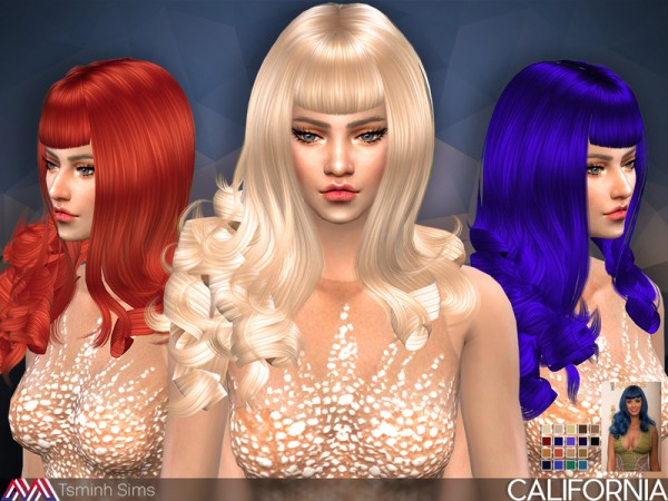 The Sims Resource: California Hair 30 by TsminhSims for Sims 4