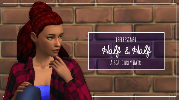 Simsworkshop: Half and Half hair by leeleesims1 for Sims 4