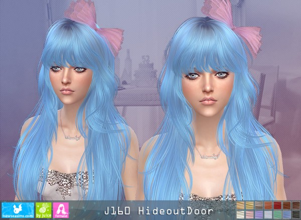 NewSea: J160 Hideout Door hair for Sims 4