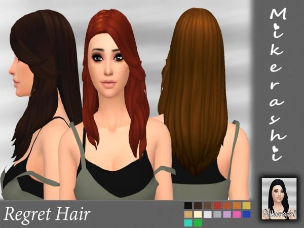 Mikerashi: Regret Hair for Sims 4