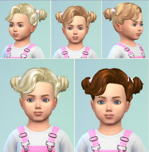 Birksches sims blog: Toddler's Curly Pigs for Sims 4