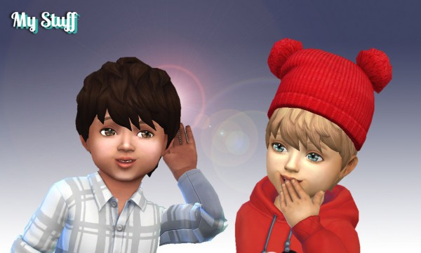 Mystufforigin: Messy Hair for Toddlers for Sims 4