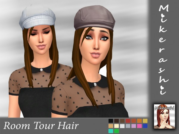 Mikerashi: Room Tour Hair for Sims 4