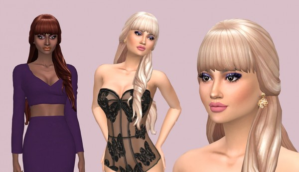 Sims Fun Stuff: Kiara`s hairs retextured for Sims 4