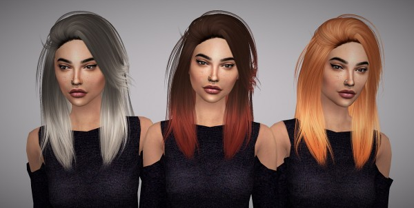 Aveline Sims: LeahLillith`s Pretty Thoughts hair retextured v.2 for Sims 4