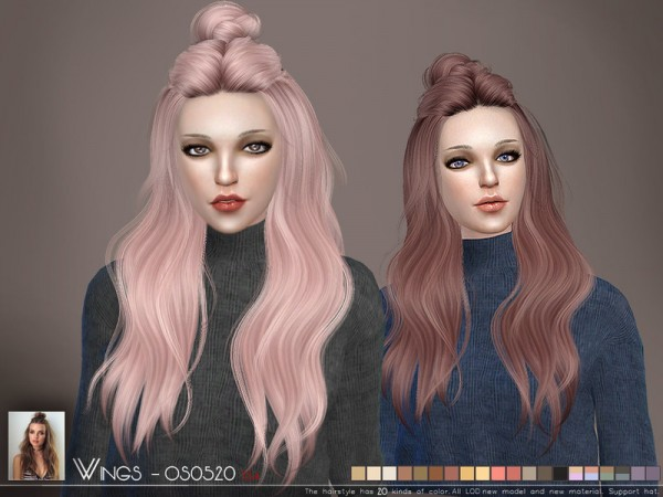 The Sims Resource: WINGS OS0520 hair for Sims 4