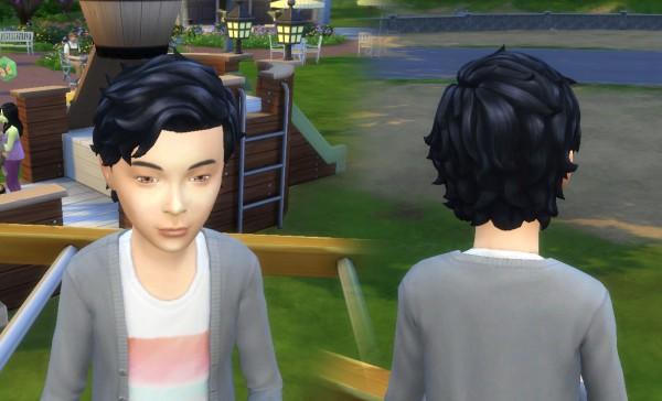 Mystufforigin: Med Relaxed hair for boys for Sims 4