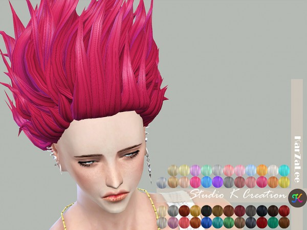 Studio K Creation: Animate hair 81 Hisoka for Sims 4