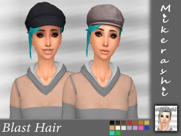 Mikerashi: Blast hair retextured for Sims 4