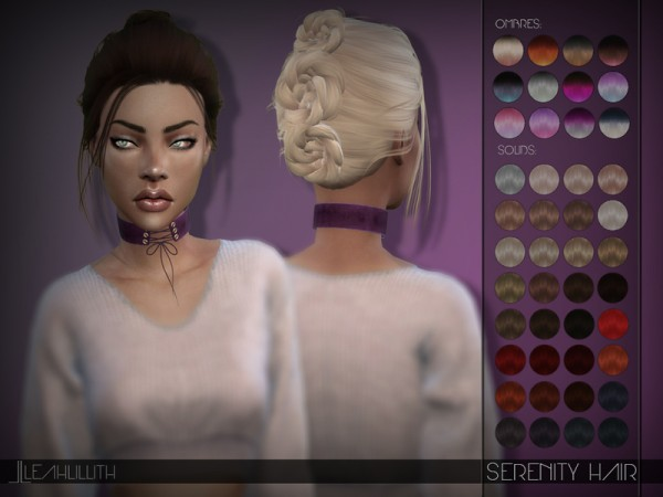 The Sims Resource: Serenity Hair by LeahLillith for Sims 4