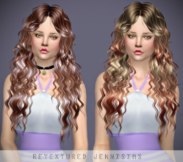 Jenni Sims: Newsea`s Night Wish hair retextured for Sims 4