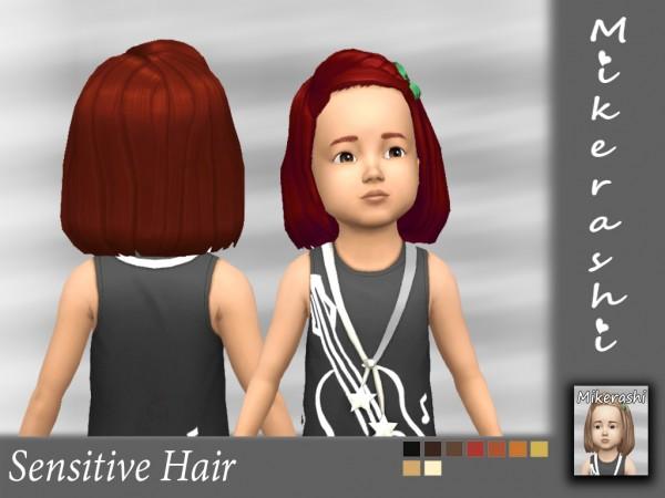 Mikerashi: Sensitive hair retextured for Sims 4