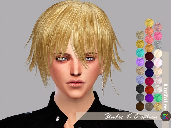 Studio K Creation: Animate hair hair 80   Yuji for Sims 4