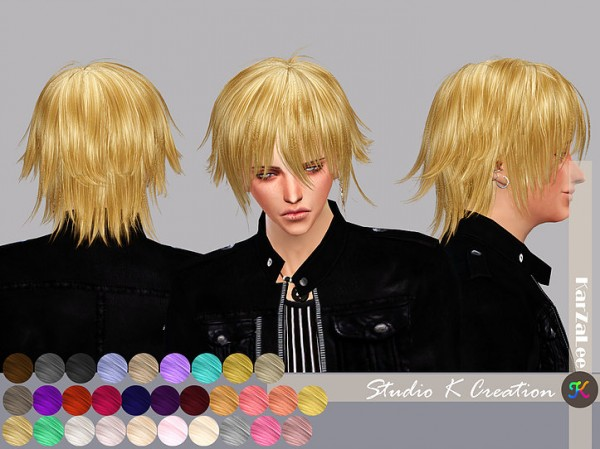 Studio K Creation: Animate hair hair 80   Yuji for Sims 4