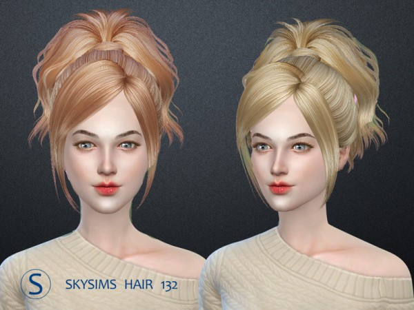 Butterflysims: Hair 132 by Skysims for Sims 4