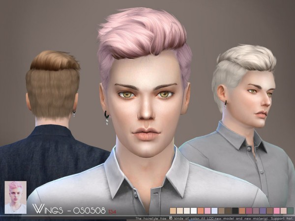 The Sims Resource: WINGS OS0508 hair for Sims 4