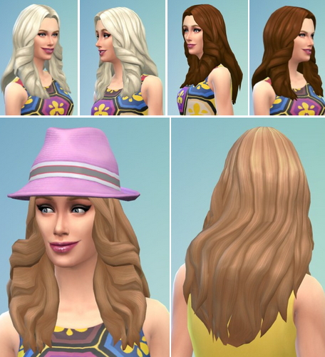 Birksches sims blog: Fancy Waves Hair for Sims 4