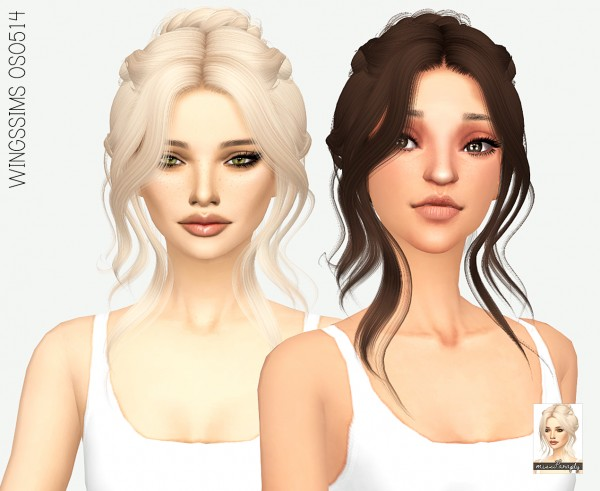 Miss Paraply: WINGSSIMS OS0514 hair retextured for Sims 4