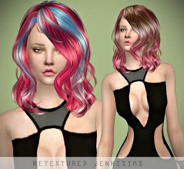 Jenni Sims: Newsea`s Insideout hair retextured for Sims 4