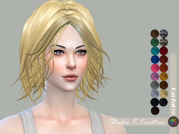 Studio K Creation: Animate hair 84 Selene for Sims 4